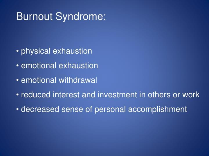 Burnout Syndrome: