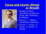 focus and count sheep or breath