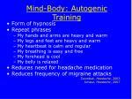 mind body autogenic training