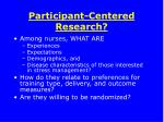 participant centered research