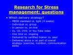 research for stress management questions2