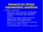 research for stress management questions3