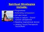 spiritual strategies include