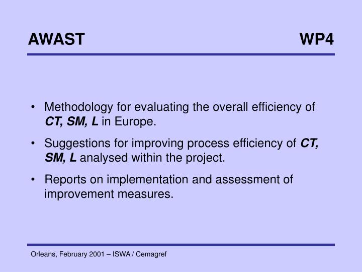 Methodology for evaluating the overall efficiency of