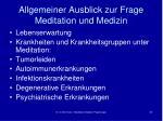 allgemeiner ausblick zur frage meditation und medizin1