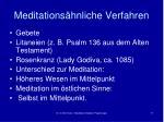 meditations hnliche verfahren