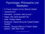 psychologie philosophie und meditation