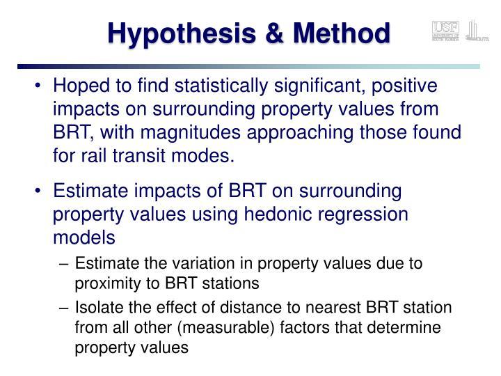Hypothesis & Method