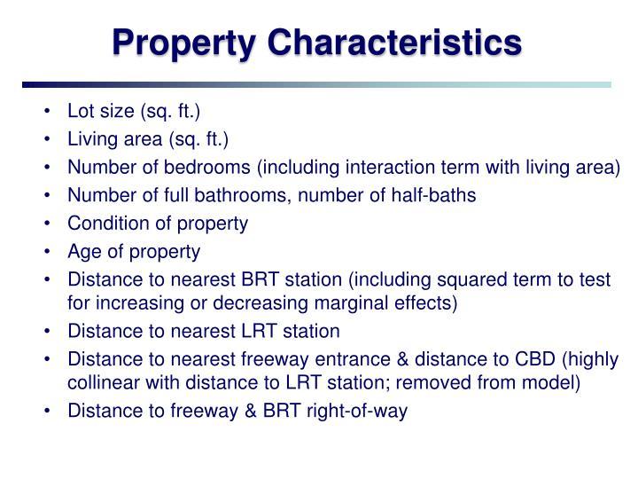 Property Characteristics