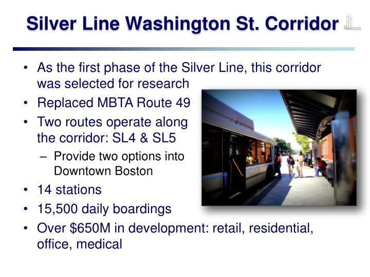 Silver Line Washington St. Corridor