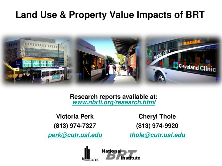 Land Use & Property Value Impacts of BRT