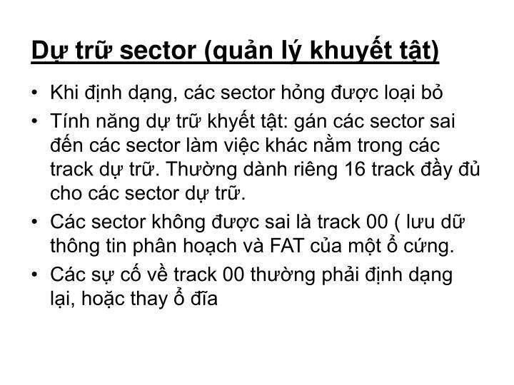 Dự trữ sector (quản lý khuyết tật)