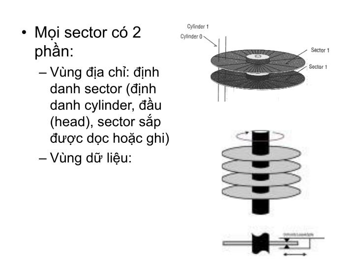 Mọi sector có 2 phần: