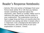 reader s response notebooks