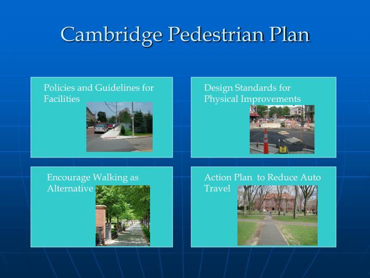 Cambridge Pedestrian Plan
