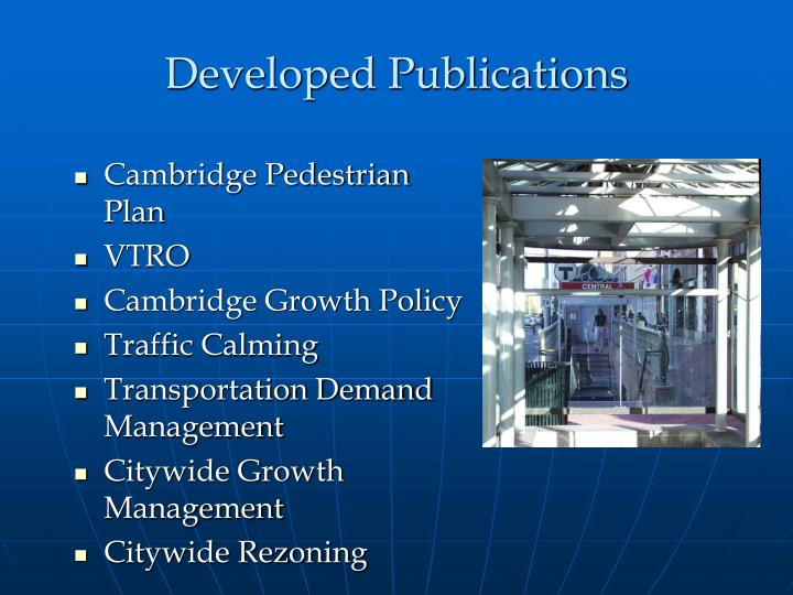 Developed Publications