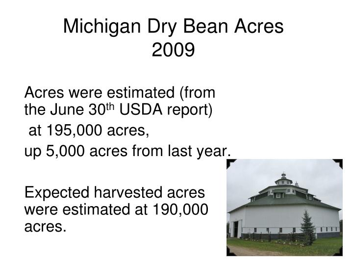 Michigan Dry Bean Acres