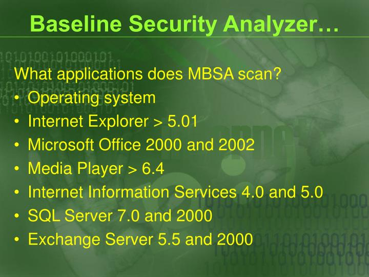 Baseline Security Analyzer…