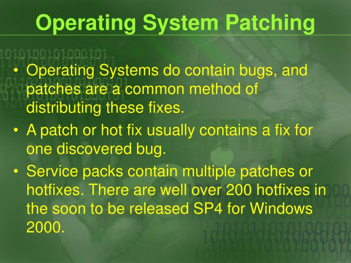Operating System Patching