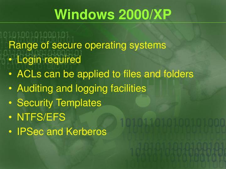Windows 2000/XP