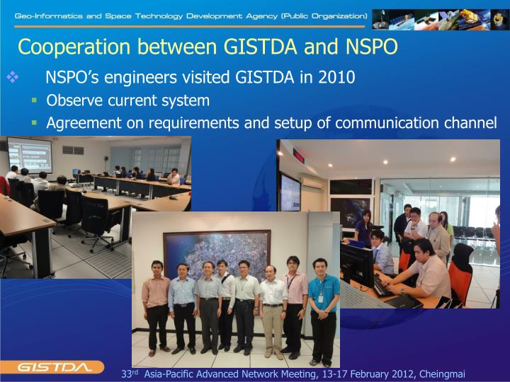 Cooperation between GISTDA and NSPO