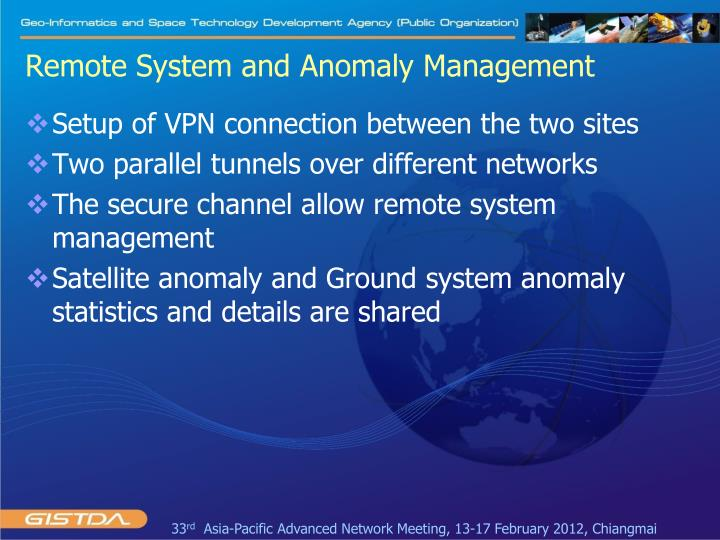 Remote System and Anomaly Management
