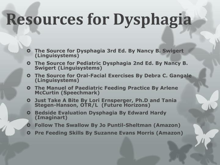 Resources for Dysphagia