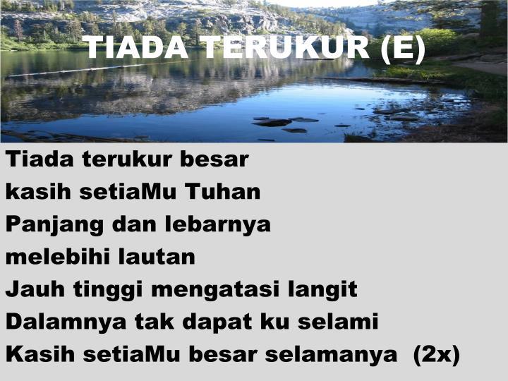TIADA TERUKUR (E)