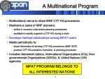 a multinational program