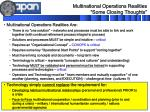 multinational operations realities some closing thoughts
