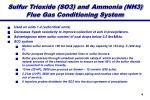 sulfur trioxide so3 and ammonia nh3 flue gas conditioning system
