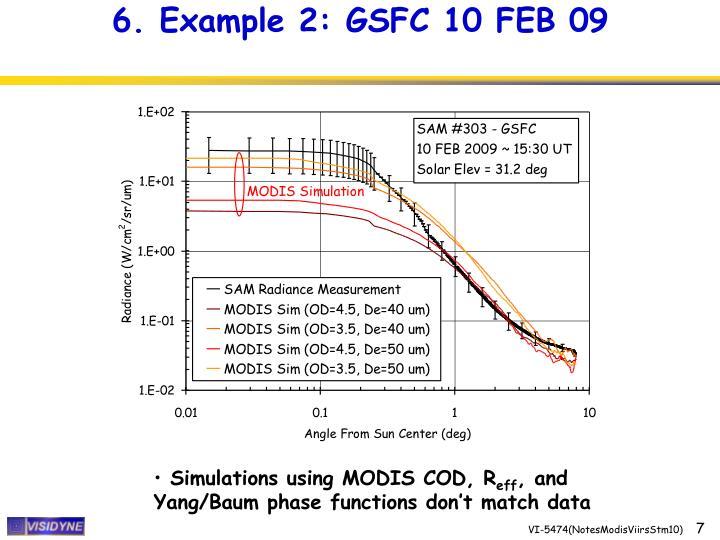 6. Example 2: GSFC 10 FEB 09
