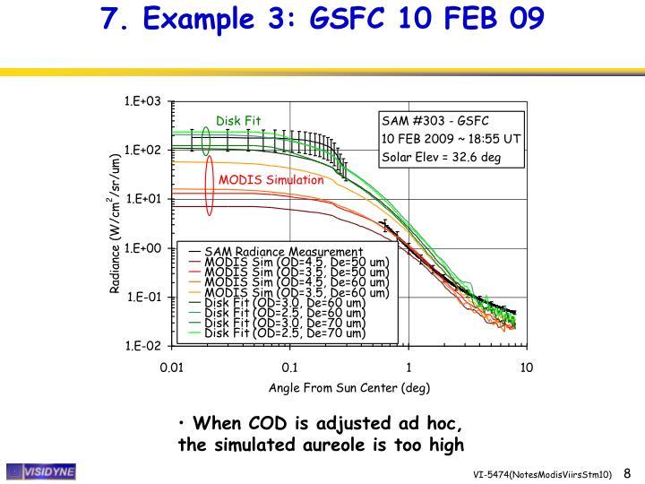 7. Example 3: GSFC 10 FEB 09