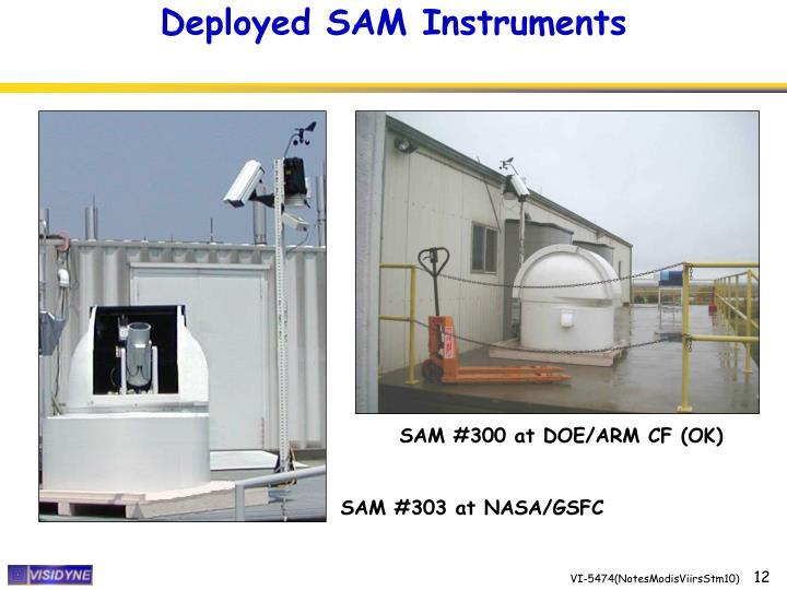 Deployed SAM Instruments