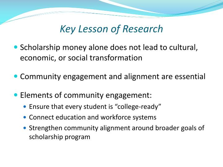 Key Lesson of Research