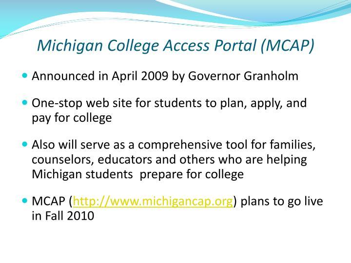 Michigan College Access Portal (MCAP)