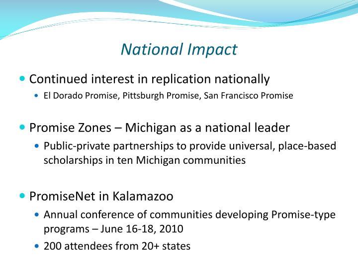 National Impact