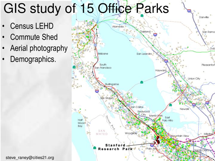 GIS study of 15 Office Parks