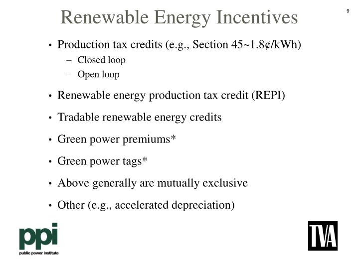 Renewable Energy Incentives
