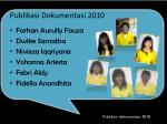 publikasi dokumentasi 2010