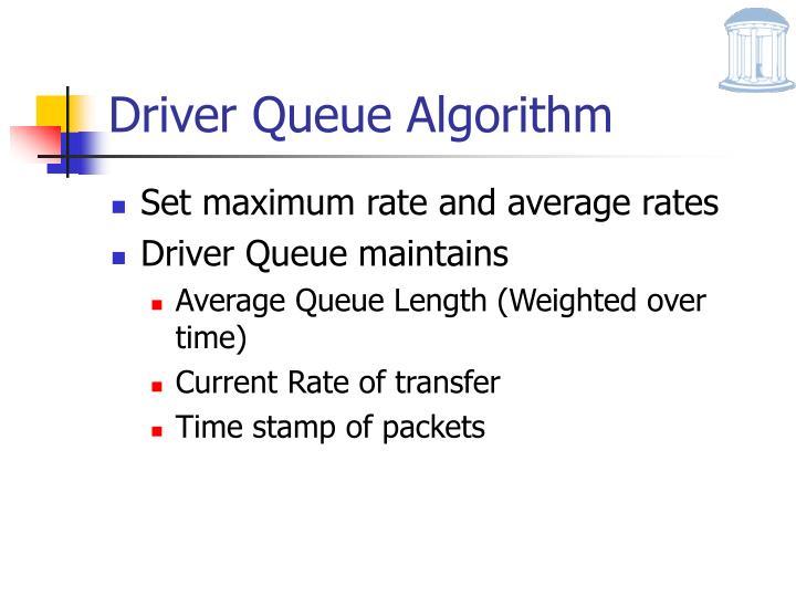 Driver Queue Algorithm