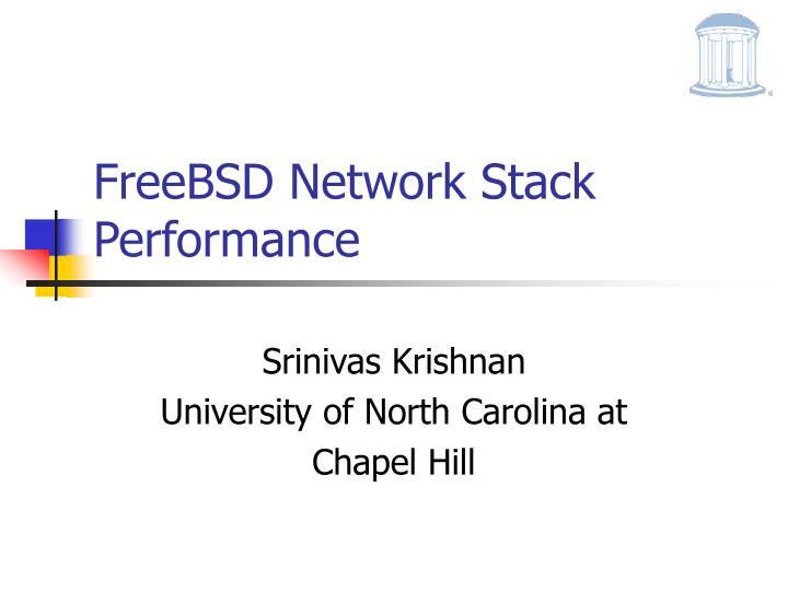 Freebsd network stack performance