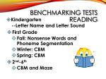 benchmarking tests reading