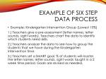 example of six step data process