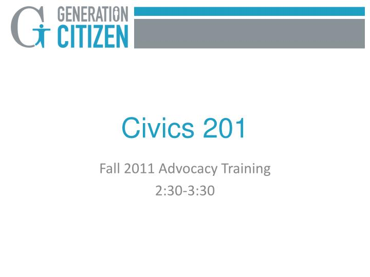 Civics 201