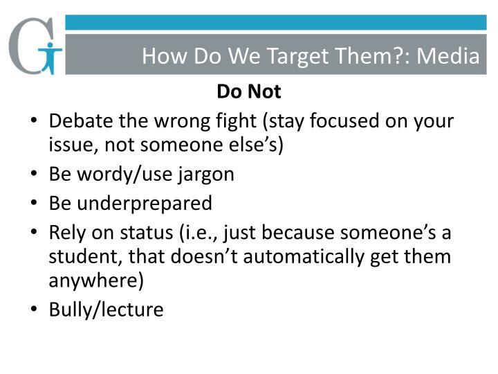How Do We Target Them?: Media