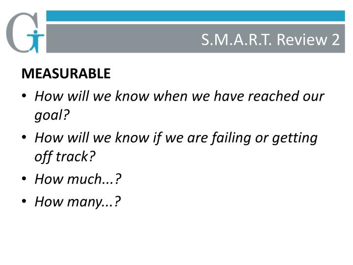 S.M.A.R.T. Review 2