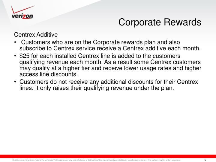 Corporate Rewards