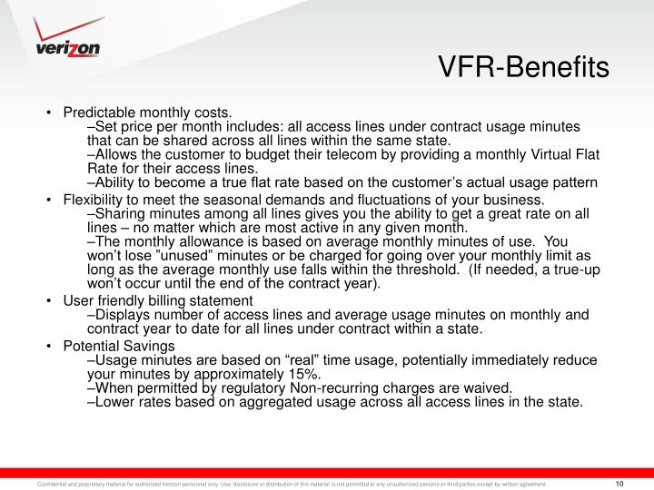 VFR-Benefits