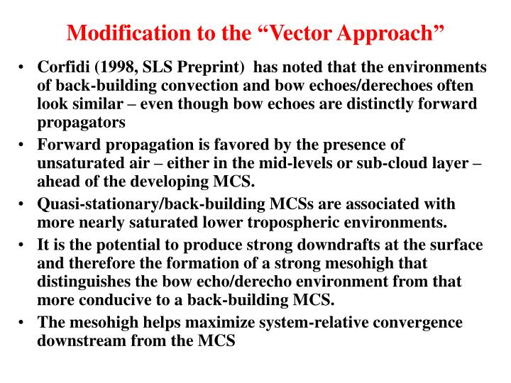"""Modification to the """"Vector Approach"""""""